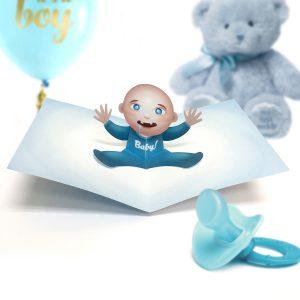 Baby Boy Pop Up Card