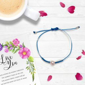 Pearl String Love Knot Bracelet