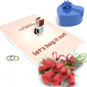 Sorry Hug Pop Up Card