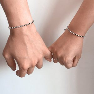 Knotty Balls Couples Bracelet
