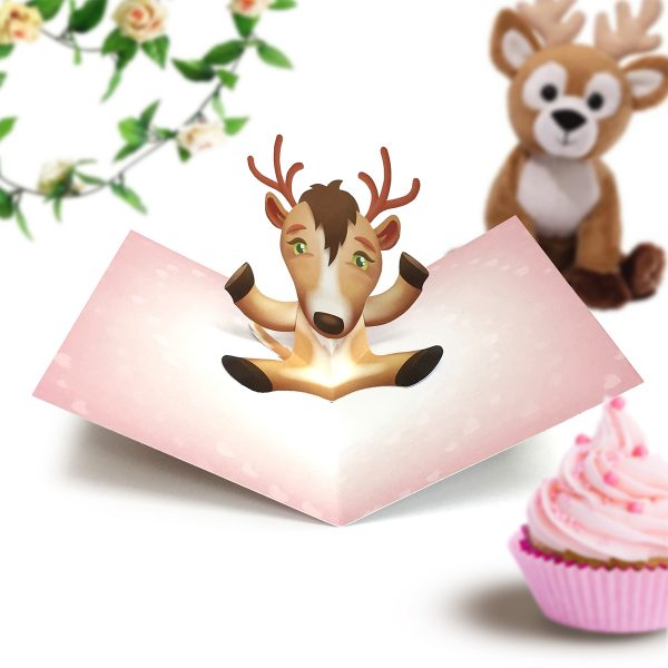Deer Pop Up Card