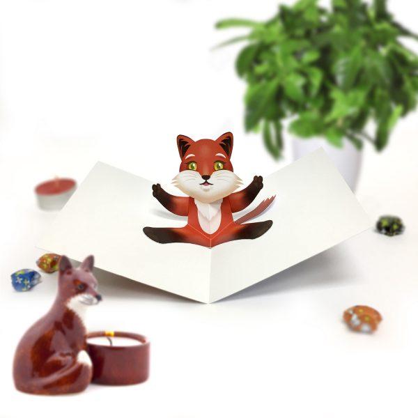 Fox Pop Up Card