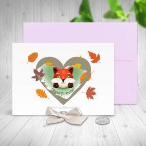 Fox Birthday Scratch Off Card