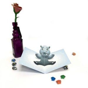 Boy Hippo Pop Up Card