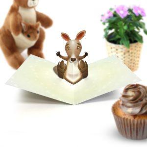 Kangaroo Pop Up Card