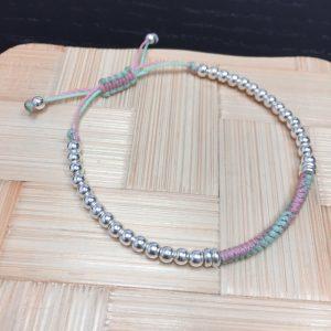 Knots Silver Beads Bracelet