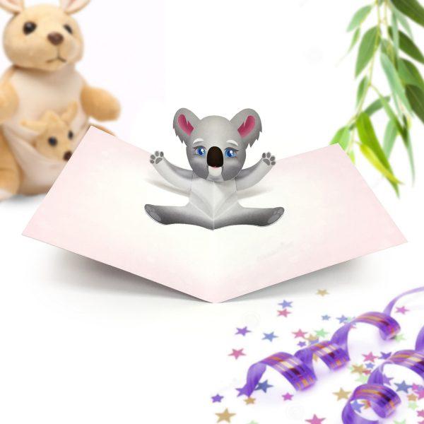Koala Pop Up Card