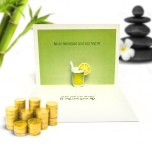Life Lemons Pop Up Card
