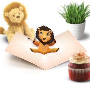 Lion Pop Up Card