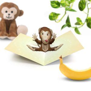 Monkey Pop Up Card