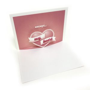 My Heart Pop Up Card