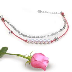 Pearl String Chain Bracelet