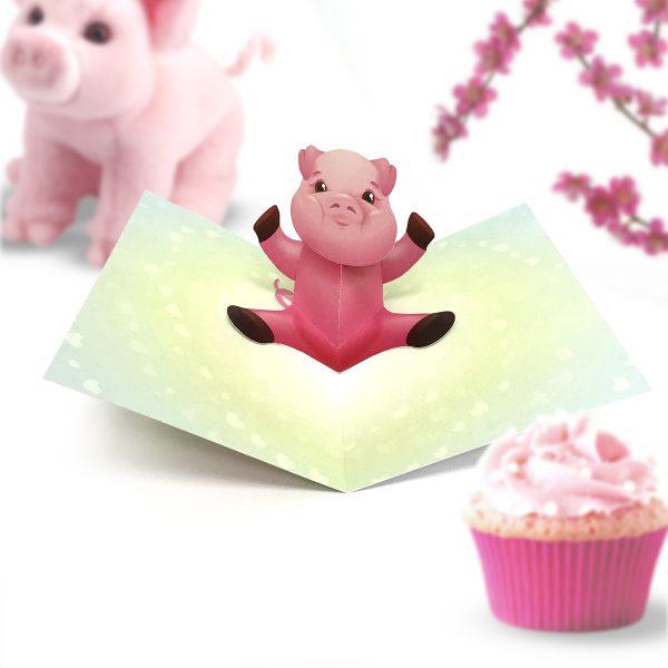 Pig Pop Up Card