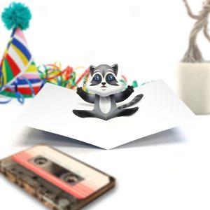 Raccoon Pop Up Card