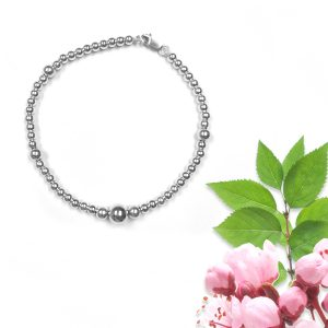 Silver Ball Charm Bracelet