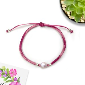 Pearl String Love Braid Bracelet