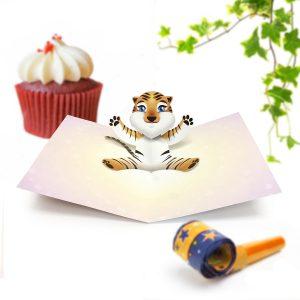 Tiger Pop Up Card