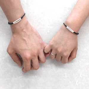 Double Twisty Line Couples Bracelet