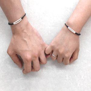 Double Twisty Line Couples Bracelet