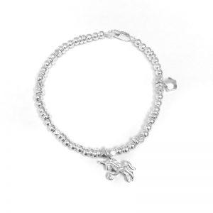 Unicorn Silver Balls Bracelet