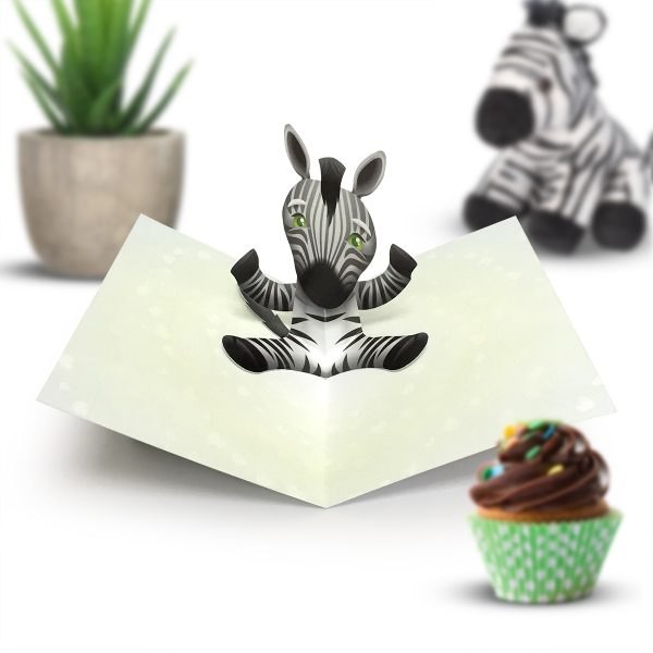 Zebra Pop Up Card