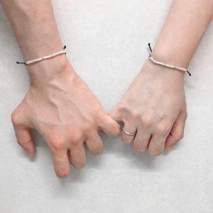 Custom Morse Code Couples Bracelet